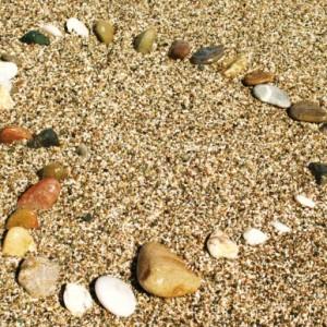 Pebbles in heart shape